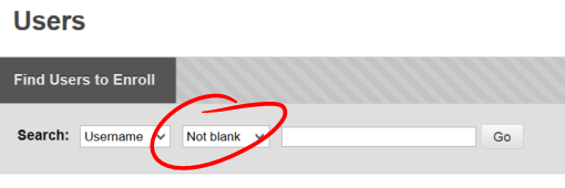 Select NOT BLANK