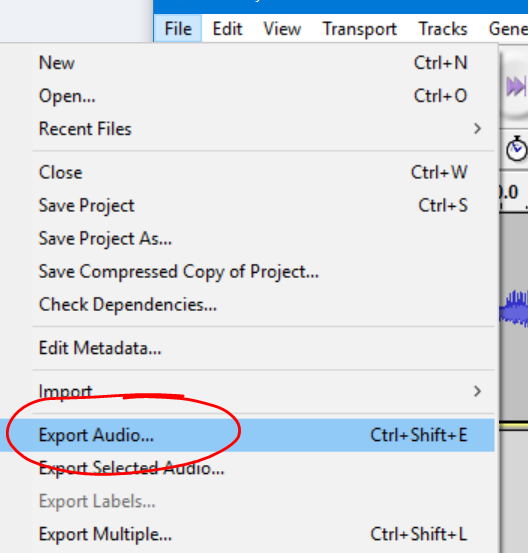 export-audio